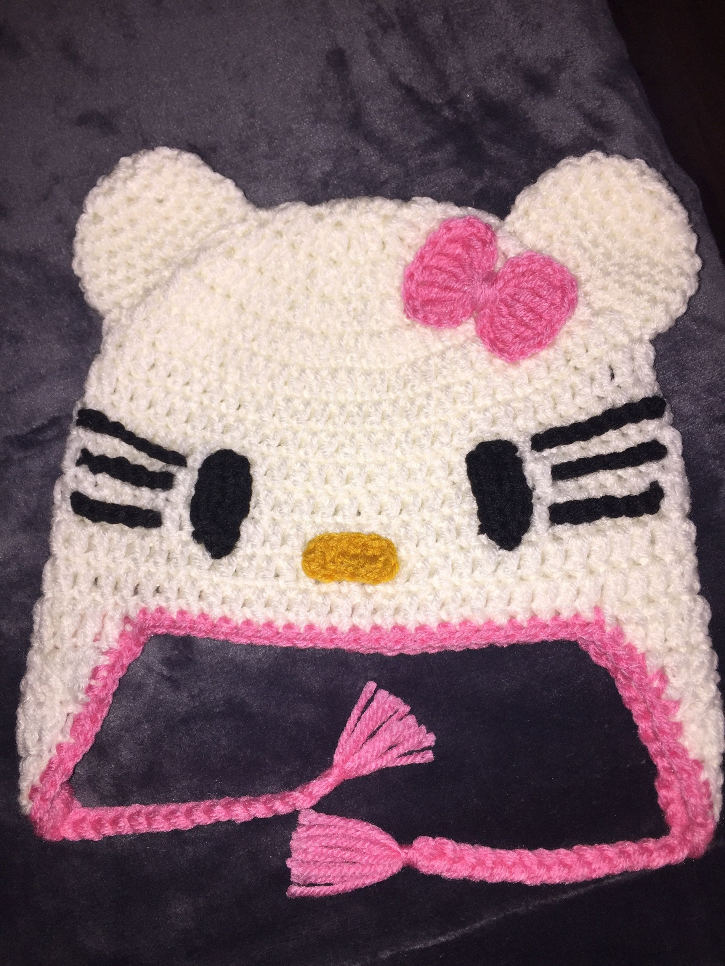 Hello Kitty Hat For 4 Year Old Pink And White Crochet Hats