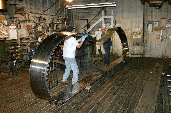 Hull Oakes Sawmill Thisiscarpentry Sawmill Bandsaw Blade Sharpening
