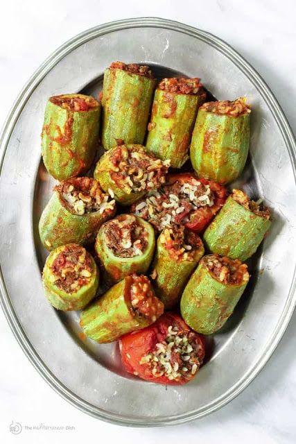 Middle Eastern Stuffed Zucchini Recipe Recipes Egyptian Food Zucchini Recipes