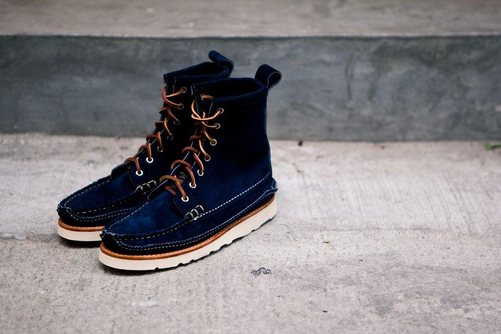 Yuketen Maine Guide DB Boots  Navy Suede