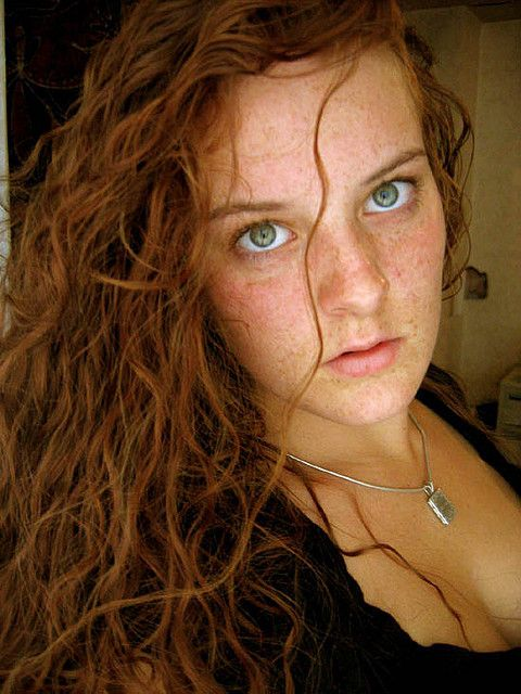Redhead green eyes irish