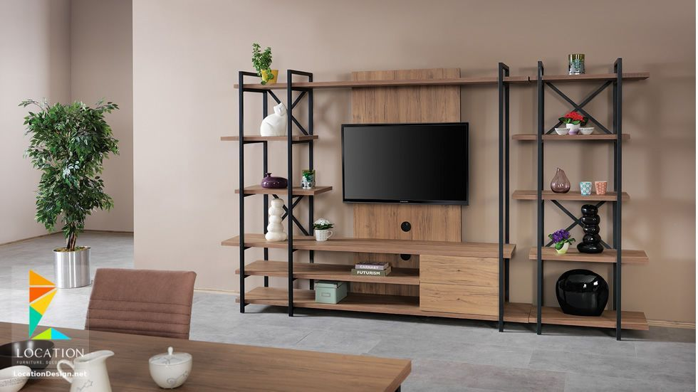 رفوف خشبية للتلفاز مكتبات شاشات Lcd مودرن Home Design Decor Furniture Living Furniture