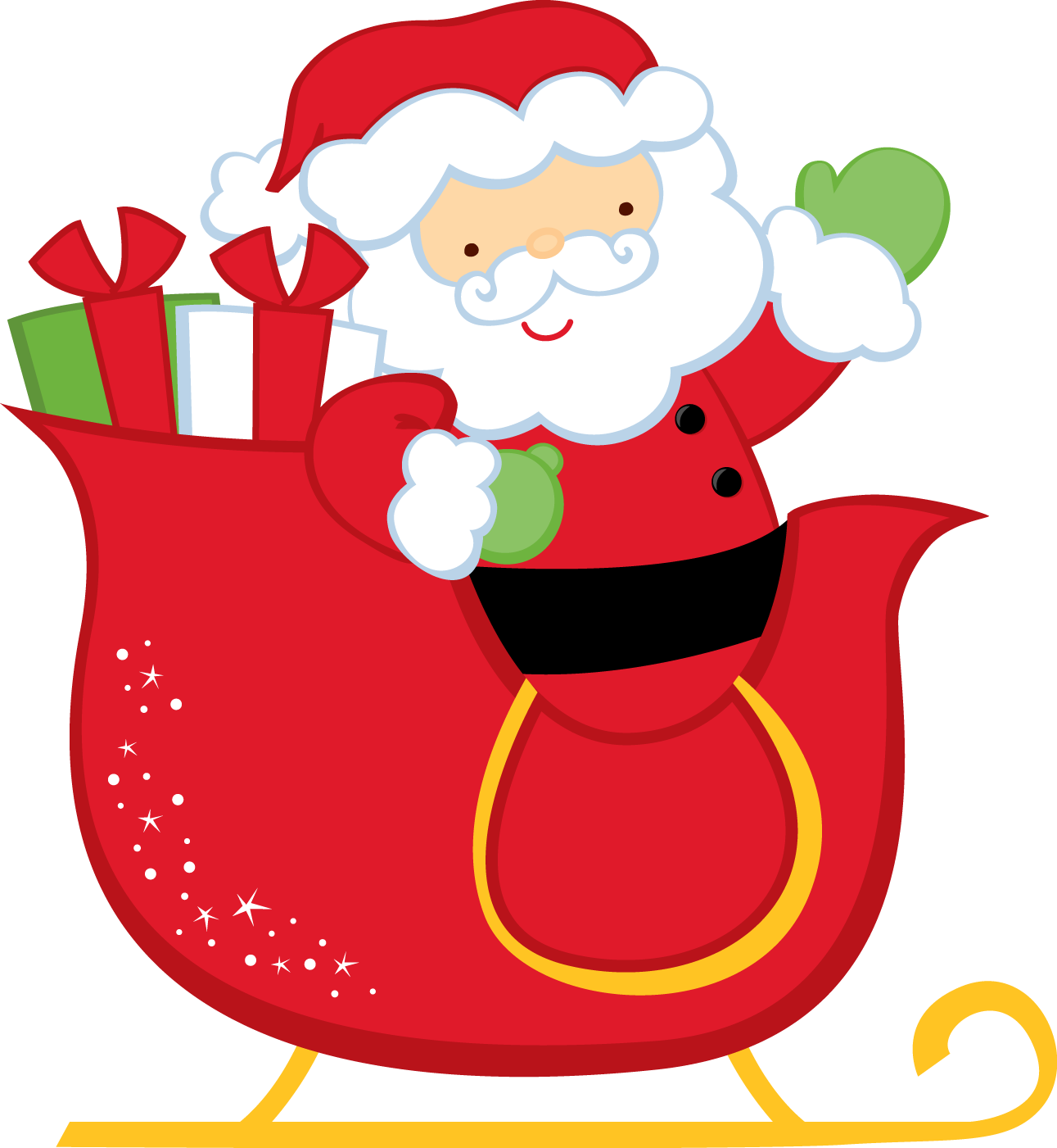 christmas santa and sleigh clip art navidad pinterest clip art rh pinterest com clipart of santa and his sleigh santa flying in sleigh clipart