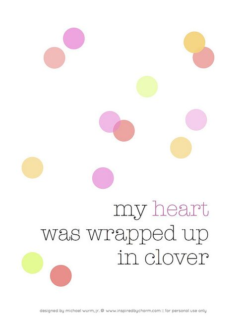 My Heart Was Wrapped Up In Clover   At Last Lyrics Meaning You Are Smitten