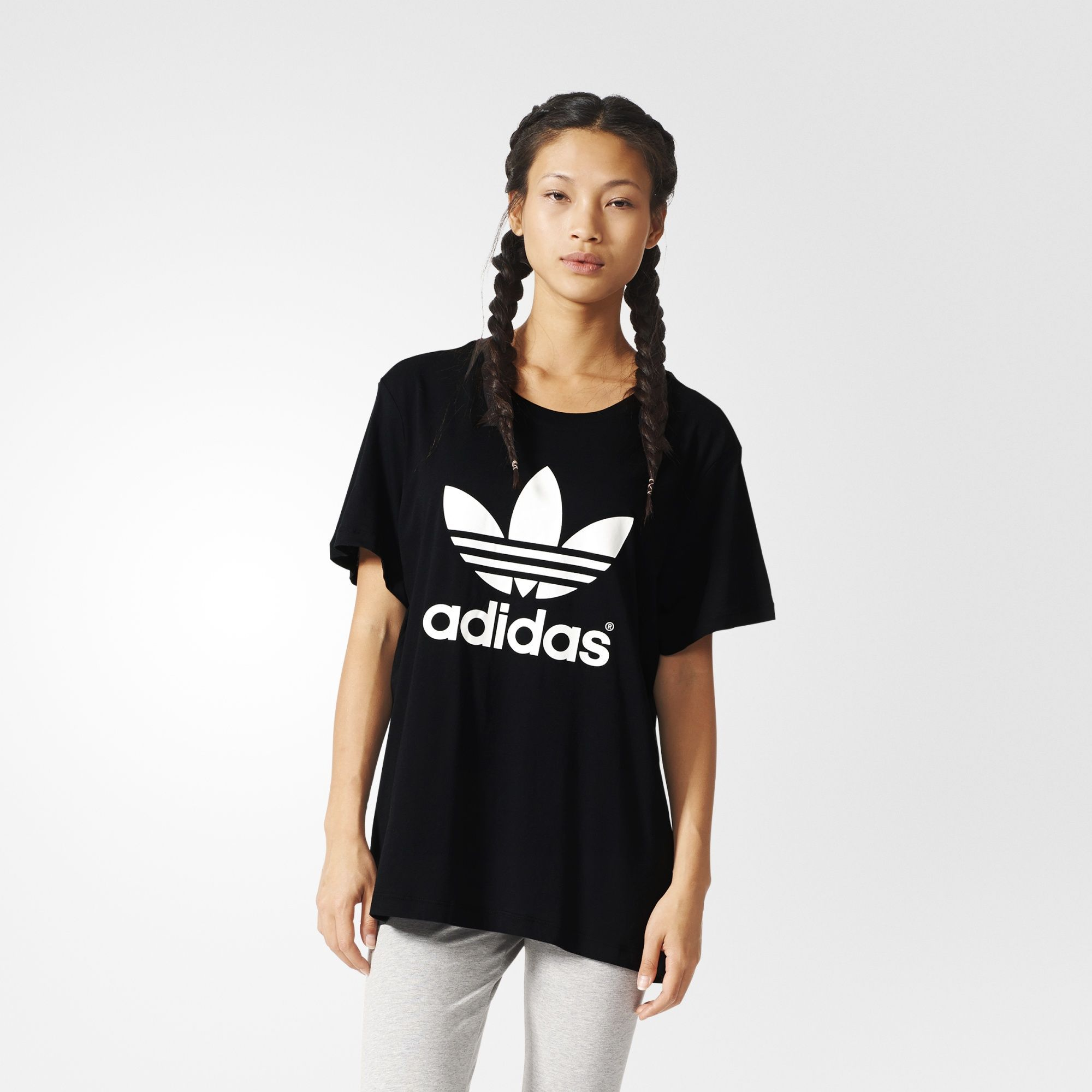 adidas originals t-shirt bf trefoil roll up tee