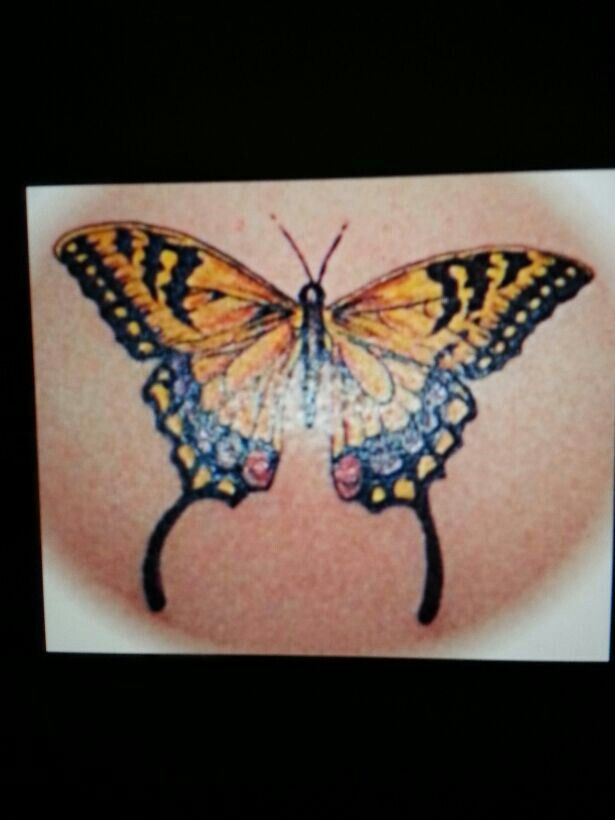 f4a08b355 Swallowtail tattoo | Tattoos | Tiger butterfly tattoo, Black ...