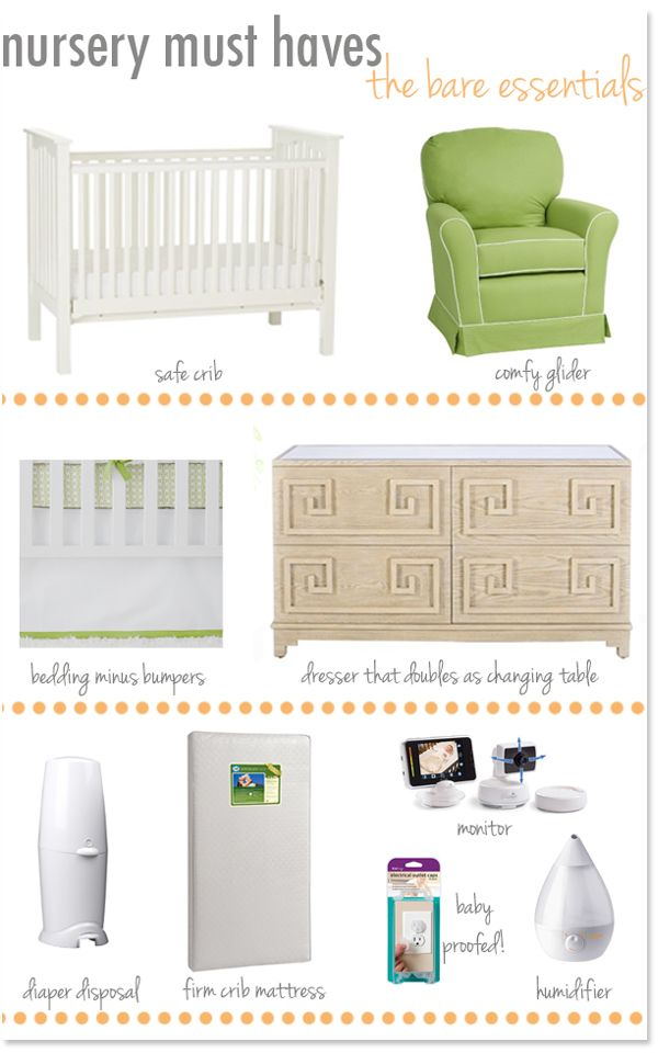 Nursery-must-haves | Nursery, Baby Nursery, Everything Baby