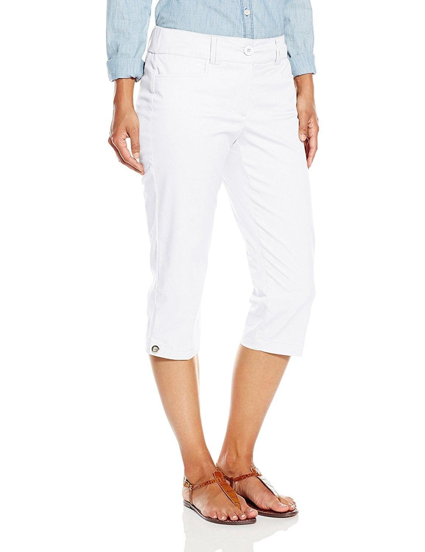 c3a49b8f6add Women's L Pocket Twill Capri - White - C3120F7685P - Women's Clothing, Pants  #Pants