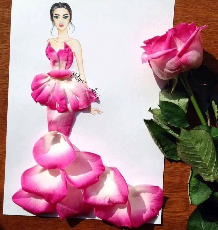 D con pétalo de rosa   Diceños   Pinterest   Pétalos de rosa, Rosas ...