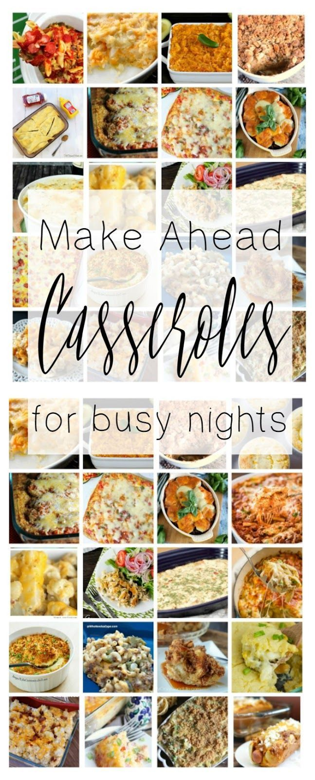this collection of make ahead casserole dinner recipes is perfect