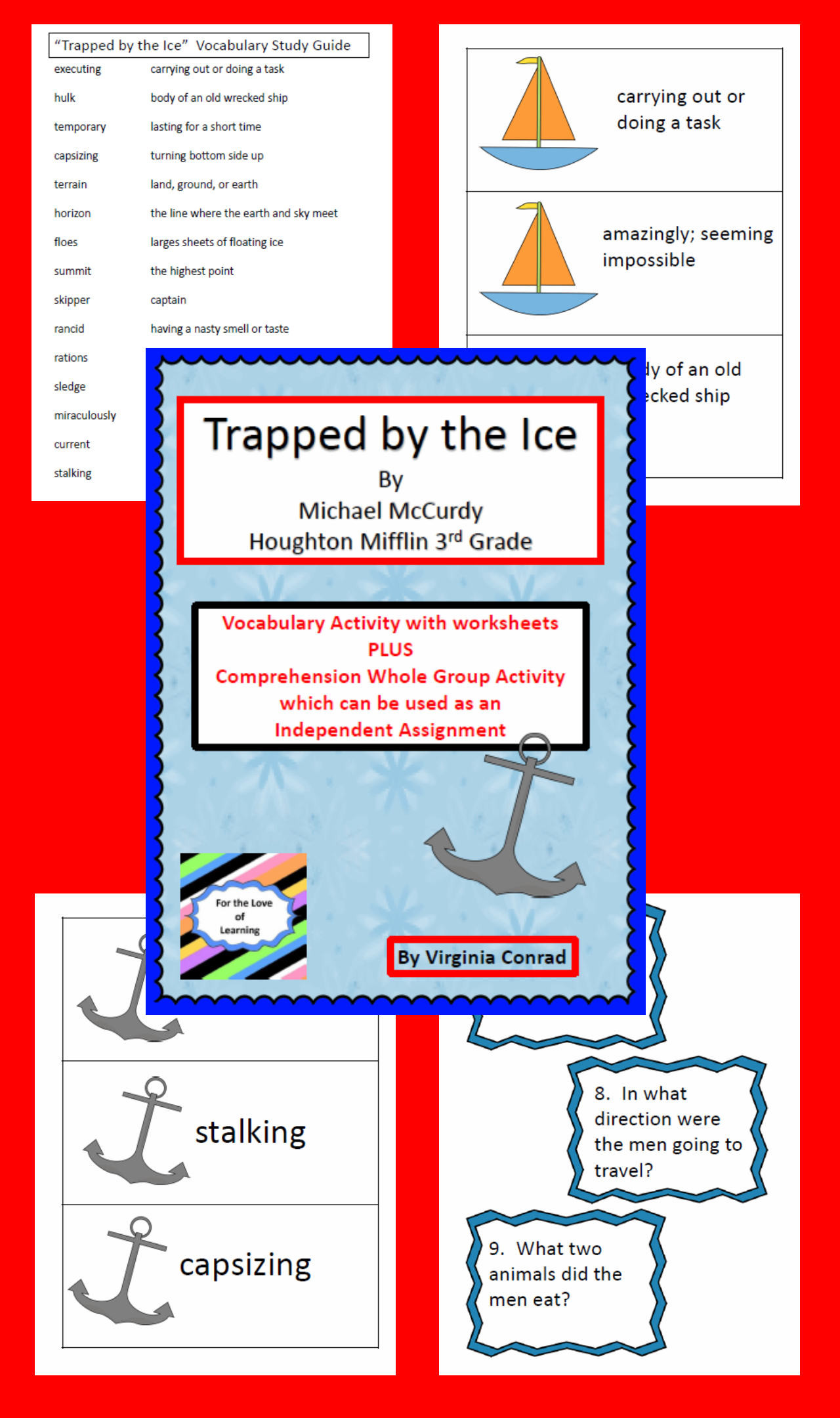 Trapped By The Ice Companion Packet Houghton Mifflin