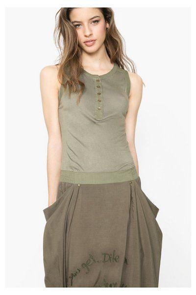 Vestido largo verde Desigual. ¡Descubre la colección primavera-verano 2016!