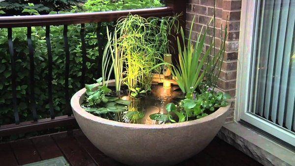 Bon DIY Balcony Mini Pond Ideas Small Balcony Decoration Ideas