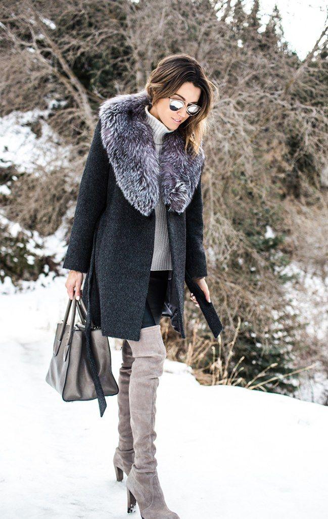 Modische orange Overknee Stiefel aus Wildleder für Winter