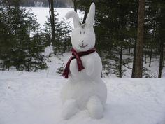Bildergebnis für snowman with bunnies