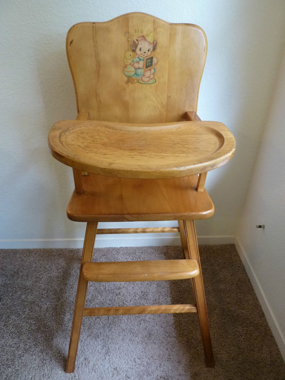 Antique High Chair Folding Office Depot Vintage Heywood Wakefield Collectible Nursery