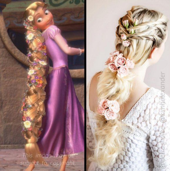 Rapunzel Disney Hairstyles Disney Hair Rapunzel Wedding