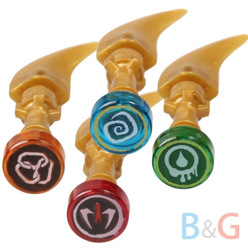 Lego ninjago set 4 pearl gold golden fang blades snake for Kinderzimmer ninjago