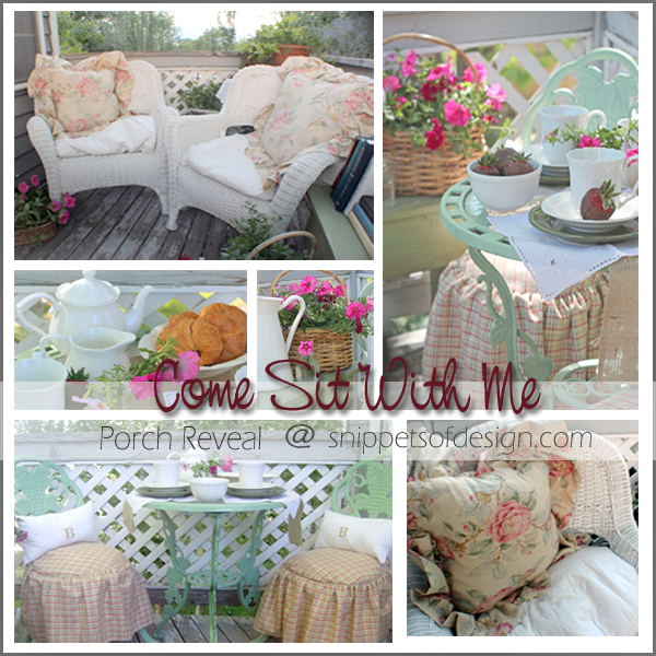 Come Sit With Me porch reveal @ Snippets of Design