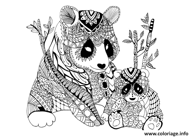 Coloriage Adulte Panda Zentangle Celine Dessin à Imprimer …