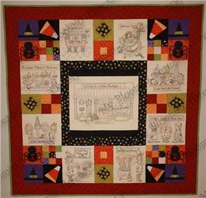 Witches in Stitches Bootique Quilt Pattern (Q02) Embroidery Patterns by Oh My Bloomin' Threads