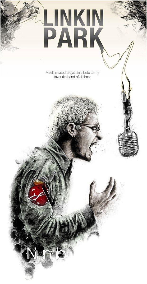 Chester Bennington - Linkin Park by Tom J Manning