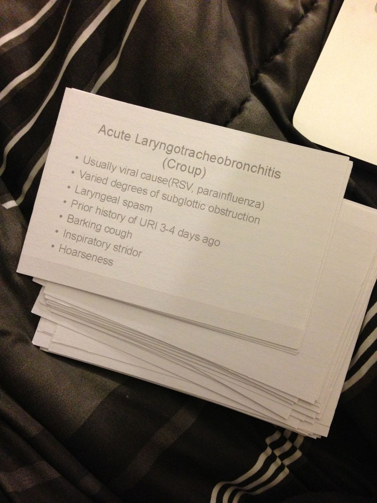 Put PowerPoint slides on note cards (Directions)