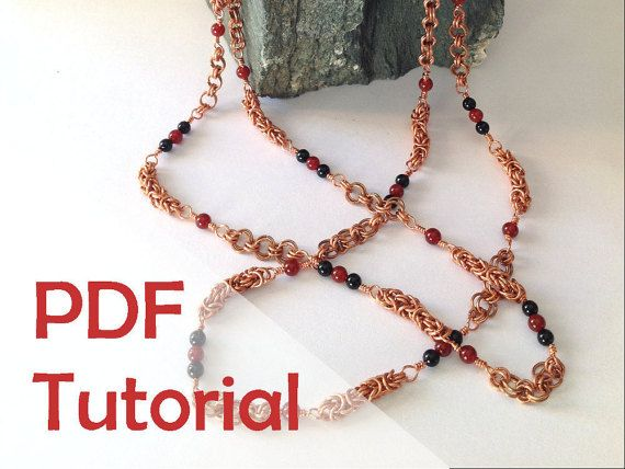 Byzantine mix chain necklace chainmaille jewelry tutorial instant byzantine mix chain necklace chainmaille jewelry tutorial instant pdf download greentooth Gallery