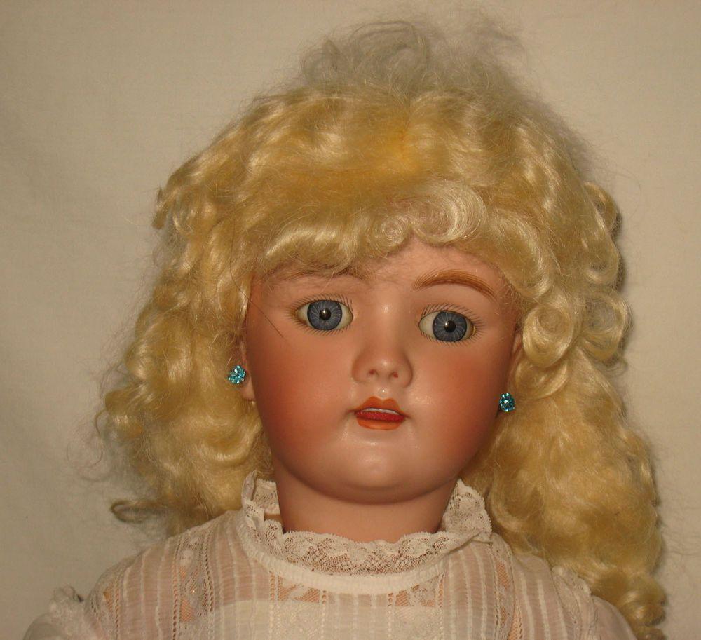 """Antique 24"""" Heinrich Handwerck Bisque Socket Head Doll #69   MP18"""