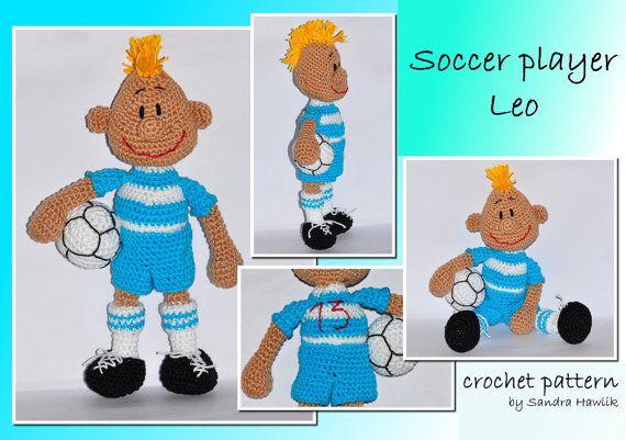 Amigurumi Patterns For Sale : Crochet pattern amigurumi soccer player by motleycrochetcrew