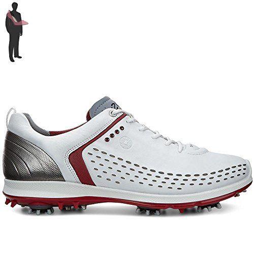 Ecco Biom G2 Chaussures de golf pour homme White/Brick - Blanc