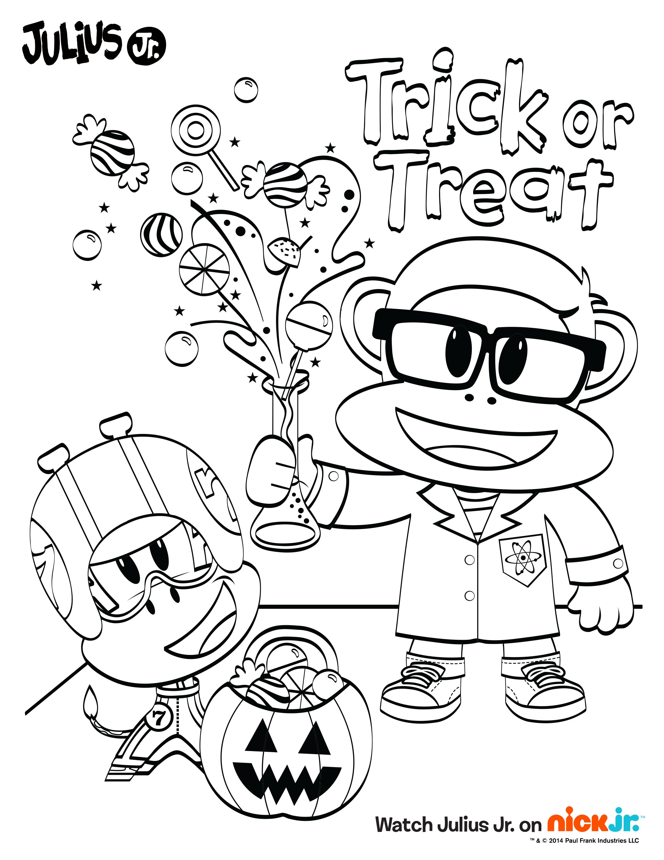 Vistoso Nick Jr Halloween Para Colorear Ideas - Enmarcado Para ...