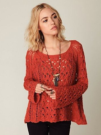 Crochet Hair For Sale Near Me : Free People Open Stitches Pullover at Free People Clothing Boutique ...