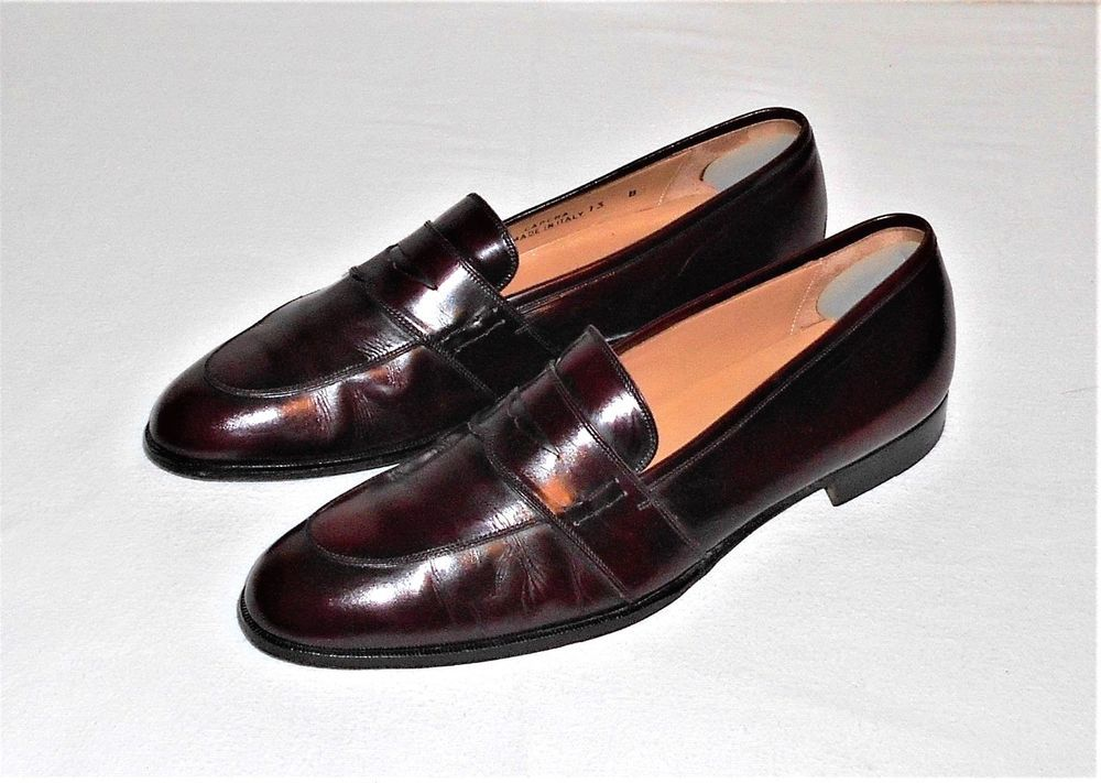 13865762886f9 Bally Carena Burgundy Leather Penny Loafer Slip On Made in Italy ...