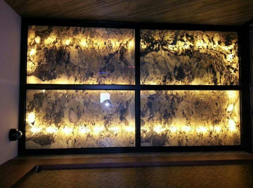 Translucent slate veneer statement wall Veneer Slate Pinterest - k che wandpaneel glas