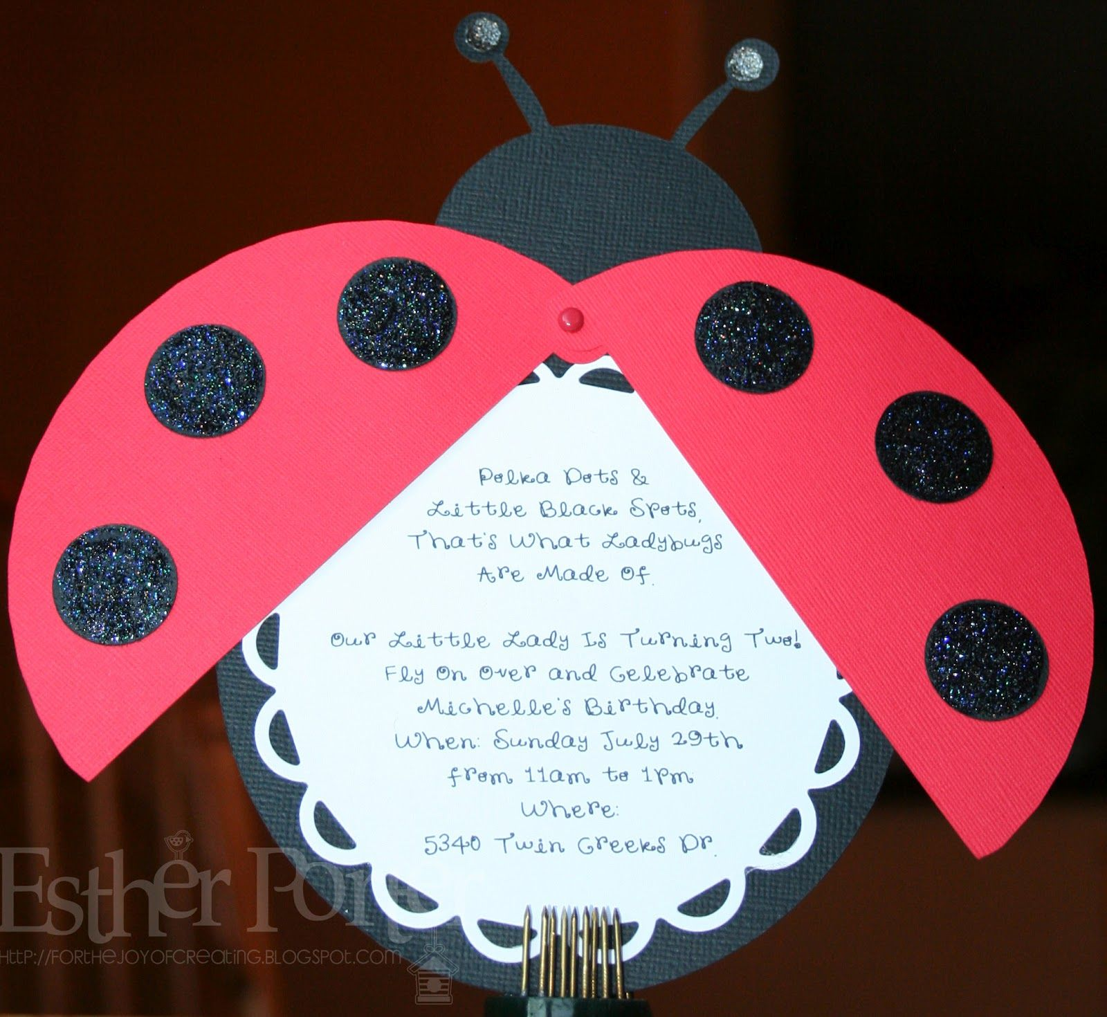 For The Joy of Creating: Ladybug Birthday Invitation | Cards ...