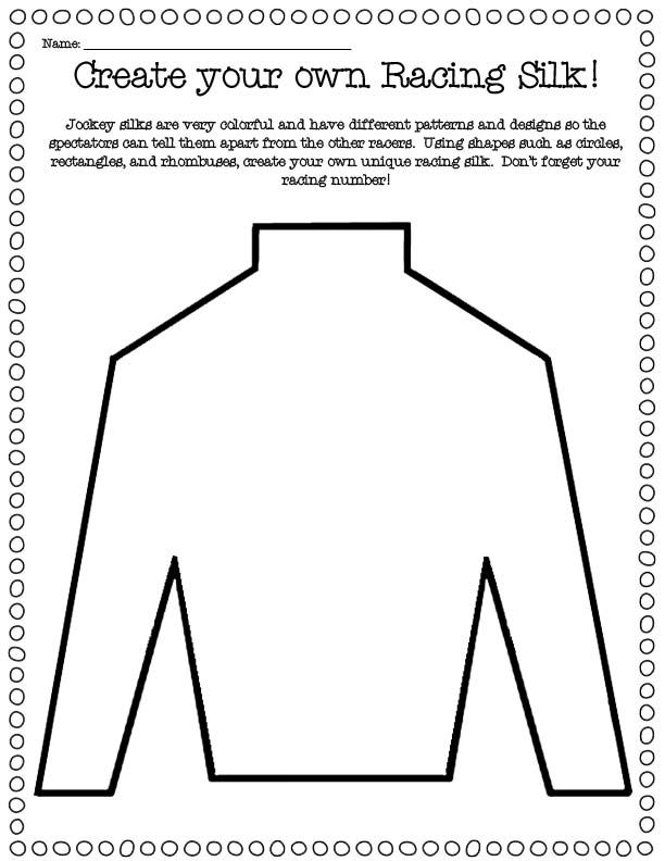 Derby Silk Template Google Search Derby Time Vocabulary Activities Derby