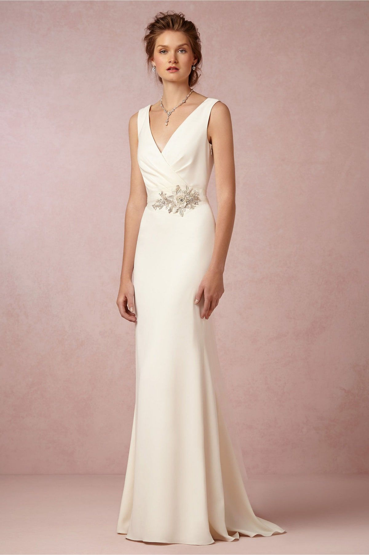 Beach Wedding Dresses Styles For 2015 Glamour In 2020 Jcrew Wedding Dress Sheath Wedding Dress Column Wedding Dress