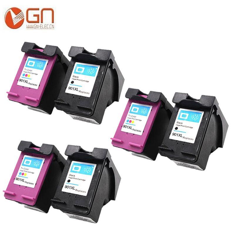 Only 57 98 6pcs 2 Set 3 Black 3 Tri Color Ink Cartridge For Hp