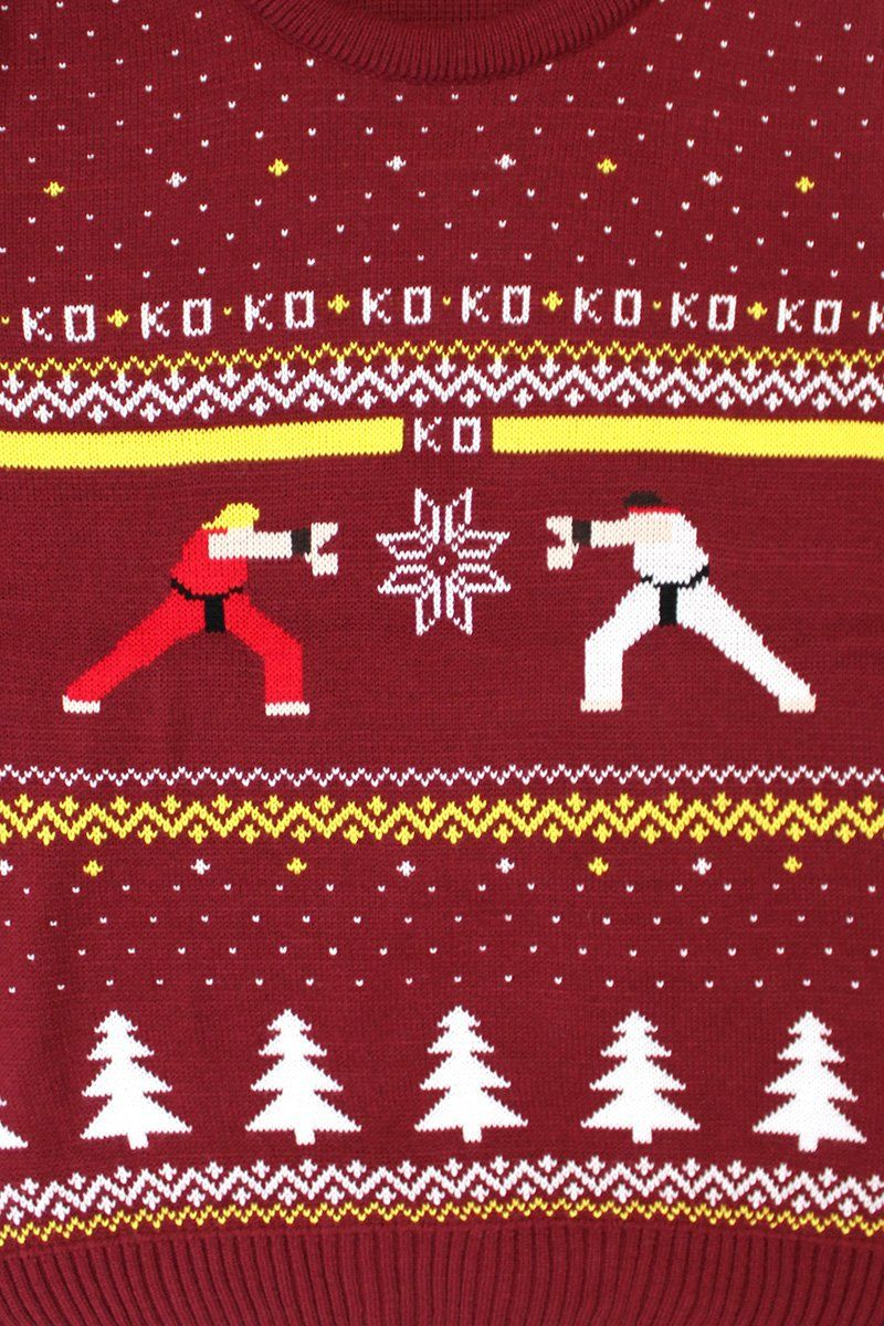 """Official Street Fighter Ken Vs. Ryu"" Ugly Christmas Sweater"