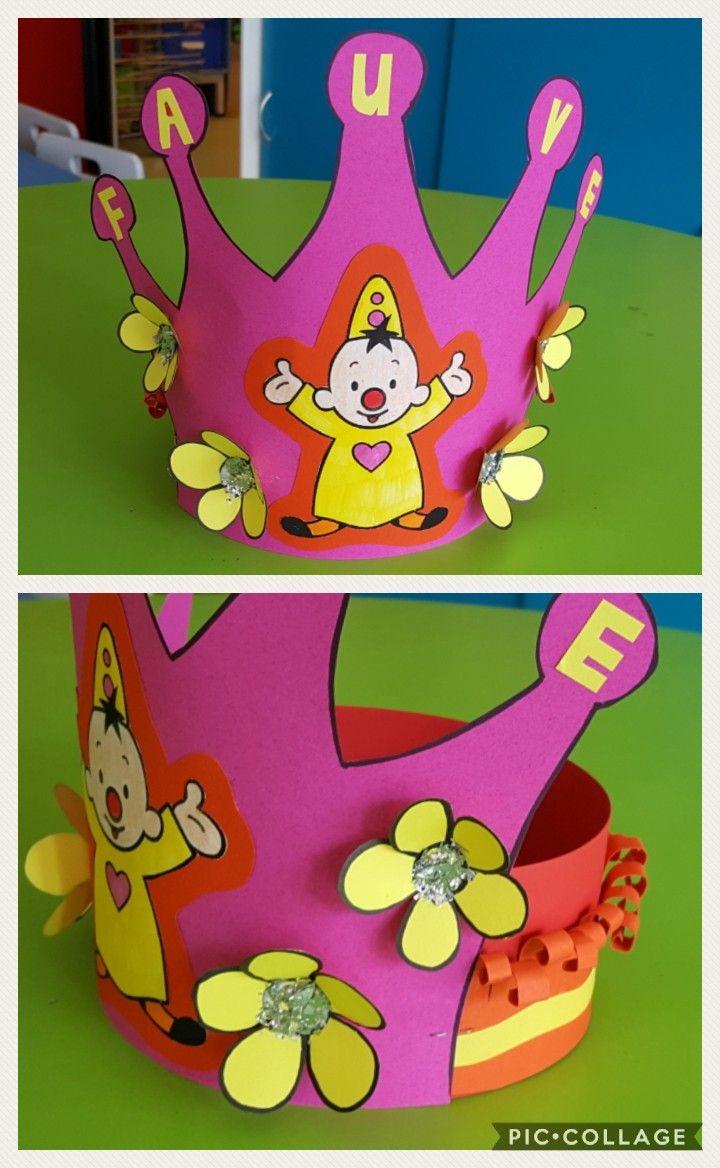 bumba kroon verjaardag kroon knutselen verjaardagskroon