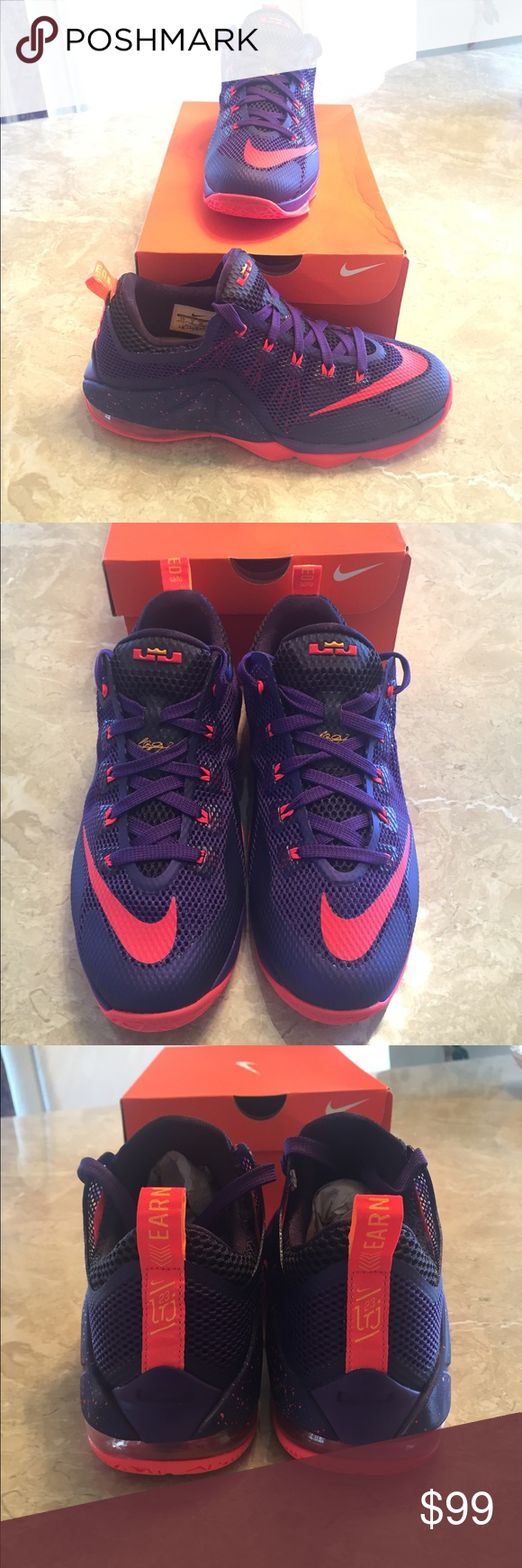 a94891a64c006 ... top quality brand new nike lebron 12 court purple nike lebron 12 court purple  shoes.