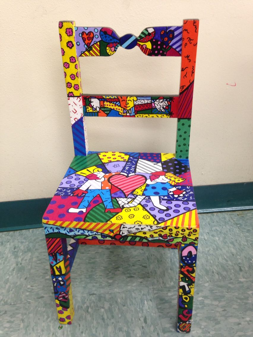 Share Chair- Romero Britto\'Style -painted by Mike Uffenorde ...