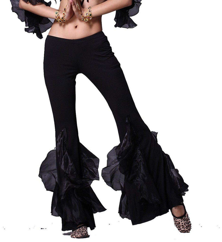 Amazon com: ZLTdream Women's Belly Dance Crimping Bottom