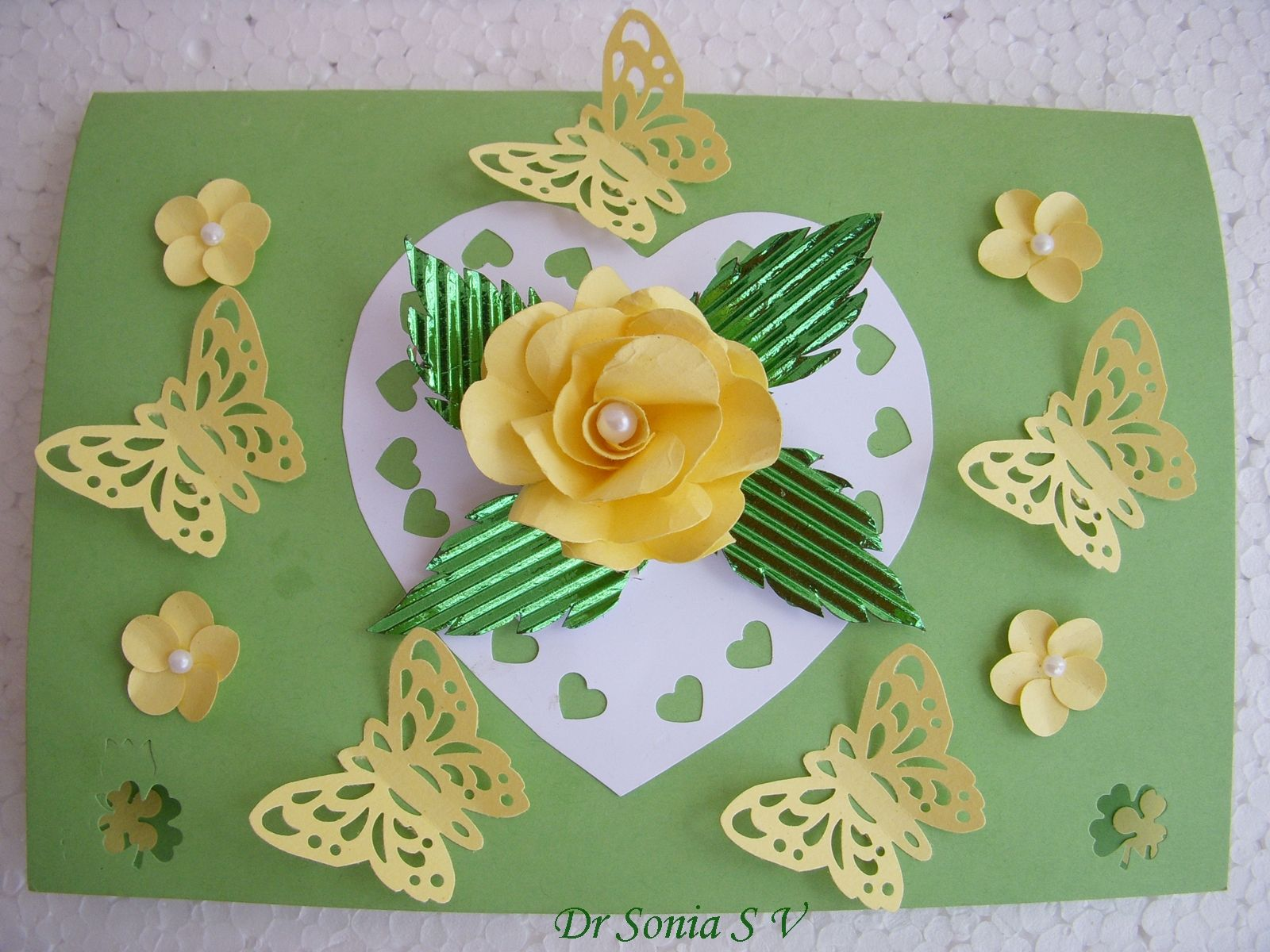 Punch craft Paper Flowers   I first saw the idea of the heart punch flower on Anitha's Blog she is a very talented lady. Do check out ...