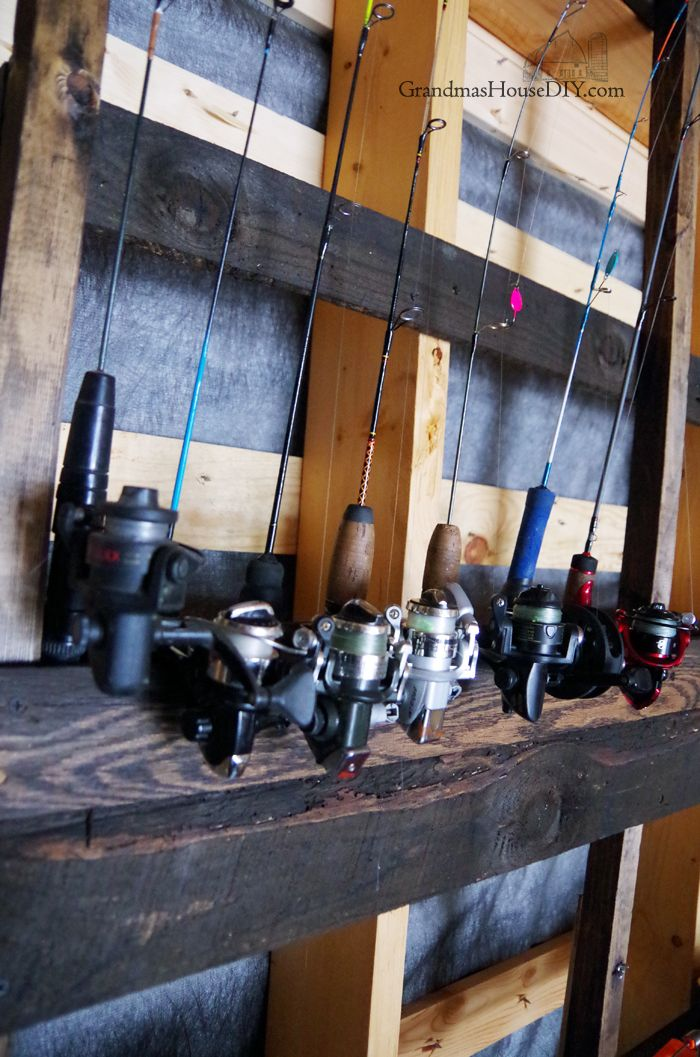 Diy Wood Working Ice Fishing Rod Rack With A Shelf For Tip Ups Ice Fishing House Fishing Rod Rack Ice Fishing Rods