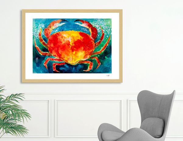 Discover «crab», Limited Edition Fine Art Print by Alessandro Andreuccetti - From 27€ - Curioos