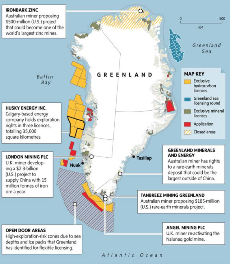 Petroleum Site Map Example: Greenland: The Future Of Oil And Mining Sector Is Here