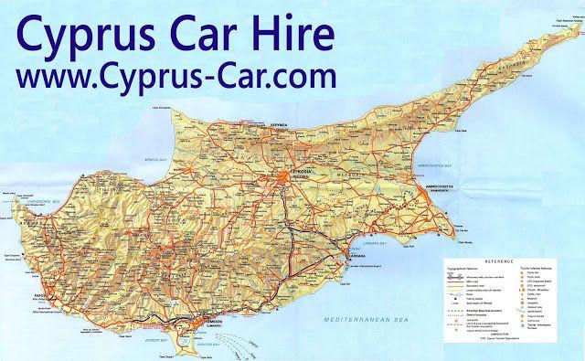 Cypern Geografiske Kort Over Cypern Cypern Danska