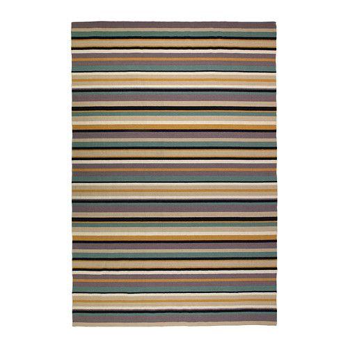 RANDLEV Teppich flach gewebt, grün Handarbeit grün, beige - teppich wohnzimmer grun